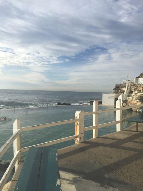 Bronte pool, a calm sea in a calm sky
